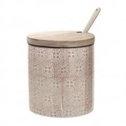 Bloomingville - Cecile Jar with Lid&Spoon 1