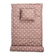 Bloomingville - Beach Mat Rose/White dotted