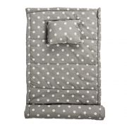 Bloomingville - Beach Mat Grey//White dotted
