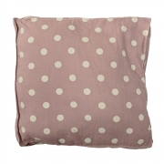 Bloomingville - Box Cushion Rose/White dotted
