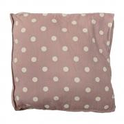 Bloomingville - Box Cushion Sitzkissen Rosa/Weiß gepunktet
