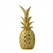 Bloomingville - Deco Pineapple Gold Deko - Ananas
