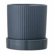 Bloomingville - Flowerpot w/Saucer Blue Stoneware