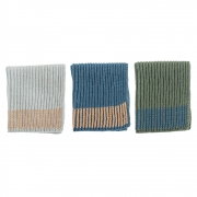 Bloomingville - Geschirrtuch mehrfarbig Baumwolle (3er Set)