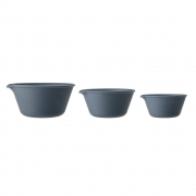 Bloomingville - Java Bowl Blue Bamboo (Set of 3)