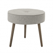 Bloomingville - Button Pouf Grey Wool