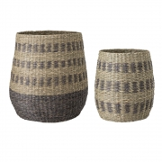 Bloomingville - Basket Multi-color Seagrass (Set of 2)