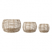 Bloomingville - Basket Nature Rattan (Set of 3)