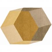 Puik - Iso Teppich Sechseck / Gelb