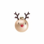 Hoptimist - Reindeer Weihnachtskugeln (2er Set) Rudolf (Beige)