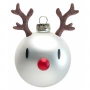 Hoptimist - Reindeer Weihnachtskugeln (2er Set) Thunder (Weiß)