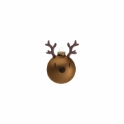 Hoptimist - Mini Reindeer Weihnachtskugeln (3er Set) Copper (Braun)