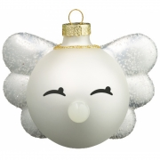 Hoptimist - Angel Bimble Weihnachtskugel (2 Stk.) Weiß