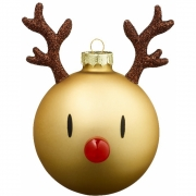 Hoptimist - Mega Weihnachtskugel Rudolf (Braun)