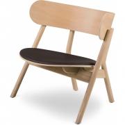 Northern - Chaise longue Oaki avec assise rembourrée