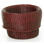 Ames - Fibra Basket Small | Dark Red