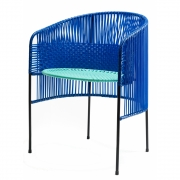Ames - Caribe Dining Chair Blue-Mint-Black