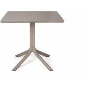 Nardi - Clip Tisch 80x80 cm | Tortora