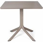 Nardi - Clip table 70x70 cm   Tortora