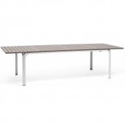 Nardi - Alloro Extendable Table 210/280 x 100 cm | Tortora-White