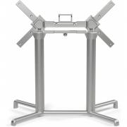 Nardi - Scudo Tischgestell Doppel   Silber