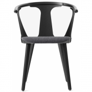 &tradition - In Between SK2 Chair with upholstered seat Fiord (191) / Ash black
