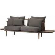 &tradition - Fly SC3 Sofa with side tables Hot Madison 093 / Oak smoked