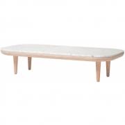 &tradition - Fly SC5 Beistelltisch 120 x 60 cm | Bianco Carrara Marble / Eiche geölt