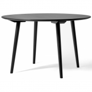 &tradition - In Between SK4 Table round 120 cm | Oak black