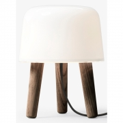 &tradition - Milk NA1 Tischleuchte Beine geräuchert / Kabel Schwarz