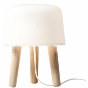 &tradition - Milk NA1 Lampe de table Frêne naturel / cordon Blanc