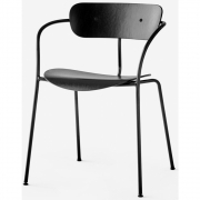 &tradition - Pavilion AV2 Armchair Black lacquered oak