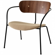 &tradition - Pavilion AV6 Lounge Chair Vidar 333 - Walnut - Brass