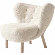 &tradition - Little Petra VB1 chaise longue Peau de mouton Moonlight | Chêne