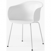 &tradition - Elefy Chair JH28 White / White tube base