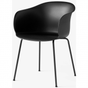 &tradition - Elefy Chair JH28 Black / Black tube base