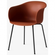 &tradition - Elefy Chair JH28 Copper Brown / Black tube base