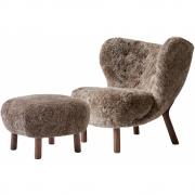 &tradition - Little Petra VB1 Lounge Sessel inkl. ATD1 Hocker (Set)