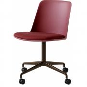 &tradition - Rely HW22 Stuhl mit Sitzpolster, 4 Beine, Rollen