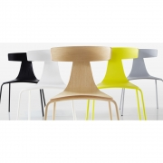 Plank - REMO Wood Chair With Metal Frame Black