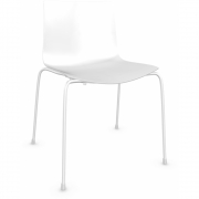 Arper - Catifa 46 0251 Chair unicoloured White | White