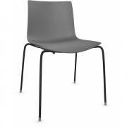 Arper - Catifa 46 0251 Stuhl einfarbig Anthrazit | Schwarz