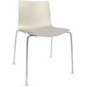 Arper - Catifa 46 0251 Stuhl einfarbig Elfenbein | Verchromt
