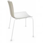 Arper - Catifa 46 0251 chaise bicolore Blanc-Ivoire | Blanc