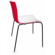 Arper - Catifa 46 0251 Stuhl zweifarbig Weiß-Rot   Schwarz