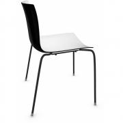 Arper - Catifa 46 0251 Stuhl zweifarbig Weiß-Schwarz   Schwarz