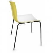 Arper - Catifa 46 0251 Stuhl zweifarbig Weiß-Gelb   Schwarz