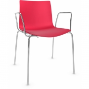 Arper - Catifa 46 0251 Armchair unicoloured Red | Chrome
