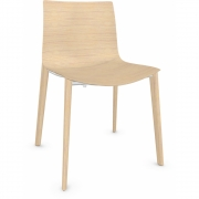 Arper - Catifa 46 0369 Wooden Chair Oak Bleached