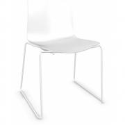 Arper - Catifa 46 0278 Kufenstuhl einfarbig Weiß | Weiß